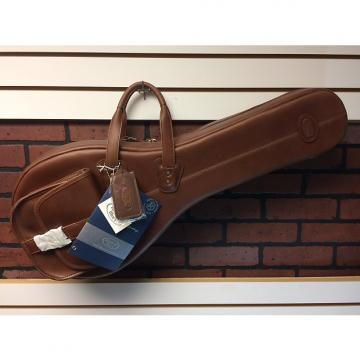 Custom Reunion Blues A-Style Mandolin Bag Chestnut Brown Leather