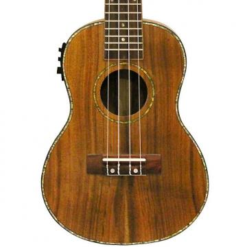 Custom Sawtooth Acacia Concert Ukulele with Preamp, Natural Satin