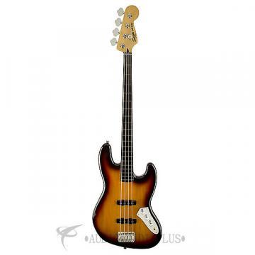 Custom Fender Squier Vintage Modified Jazz Fretless Ebonol FB 4/S Electric Bass Guitar 3-Color Sunburst