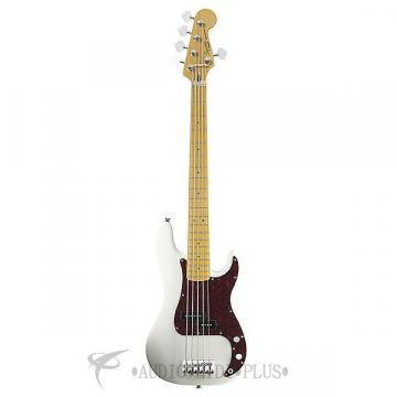 Custom Fender Squier Vintage Modified Precision Maple Fingerboard 5-String Electric BassGuitarOlympic White