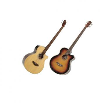 Custom Crestwood Acoustic Acoustic Bass Guitars with 4 band EQ