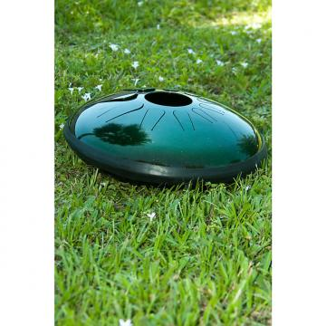 Custom Idiopan Dominus 14-Inch Tunable Steel Tongue Drum - Cosmic Green