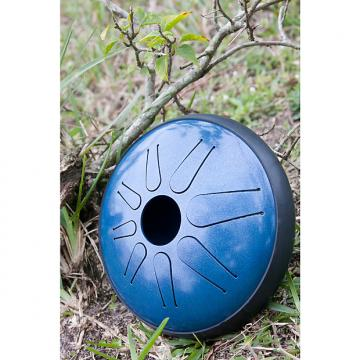 Custom Idiopan Lunabell 8-Inch Tunable Steel Tongue Drum with Pickup - Oceanic Blue