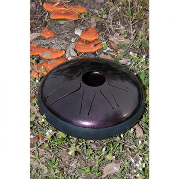 Custom Idiopan Lunabell 8-Inch Tunable Steel Tongue Drum with Pickup - Dark Cherry