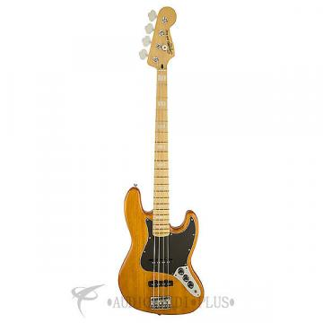 Custom Fender Squier Vintage Modified Jazz 77 Maple Fingerboard Electric Bass Amber - 0307702520