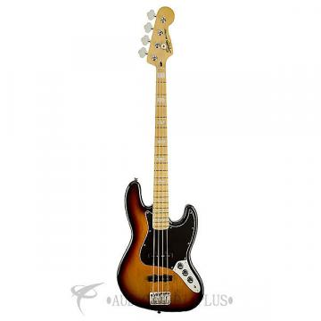 Custom Fender Squier Vintage Modified Jazz 77 Maple Fingerboard Electric Bass 3-Color Sunburst - 0307702500