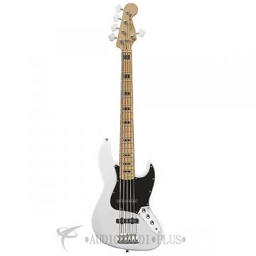 Custom Fender Squier Vintage Modified Jazz V Maple Fingerboard 4 Strings Electric Bass Guitar Olympic White
