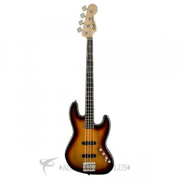 Custom Fender Squier Deluxe Jazz IV Active Ebonol FB 4 String Electric Bass 3-Color Sunburst - 0300574500
