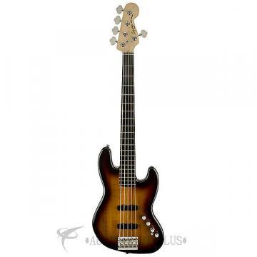 Custom Squier Deluxe Jazz Active Ebonol Fingerboard 5 Strings Electric Bass Guitar 3-Color Sunburst