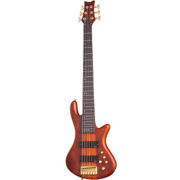 Custom Schecter Stiletto Studio-6 Honey Satin HSN *B-Stock* 6-String Bass Guitar Studio 6