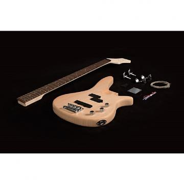 Custom DIY Electric Jazz Bass Guitar Kit Solid Mahogany Body Bolt-On Neck