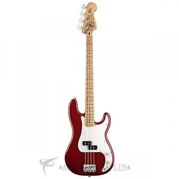 Custom Fender Standard Precision Maple FB Electric Bass Candy Apple Red - 0146102509 - 885978112128