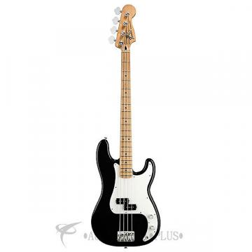 Custom Fender Standard Precision Maple Fingerboard Electric Bass Black - 0146102506 - 885978112111