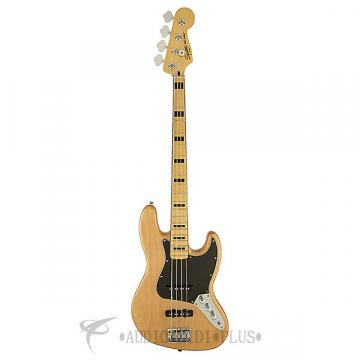 Custom Fender Squier Vintage Modified Jazz 70s Mapl FB Electric Bass  Natural - 0306702521 - 885978322718