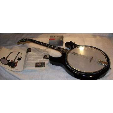 Custom Deering Crossfire Tenor Banjo Guitar- RARE! 1990s Black