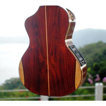 Custom Custom Handcrafted Solid Cocobolo Rosewood Electric Tenor Ukulele w/t Soundport & Cutaway