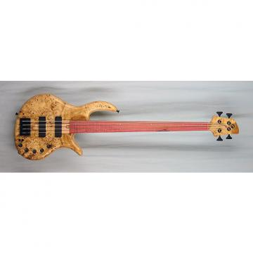Custom Elrick Handcarved e-volution 4-String Bass Guitar, Gold Series, Pink Ivory Fretless Fingerboard