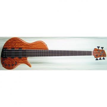 Custom Elrick Handcarved e-volution 5-String Bass Guitar, Platinum Series Single-Cut, Wenge Fingerboard