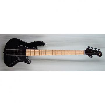 Custom Elrick Expat Handmade New Jazz Standard 5-String Bass Guitar, Piano Black Finish, Maple Fingerboard