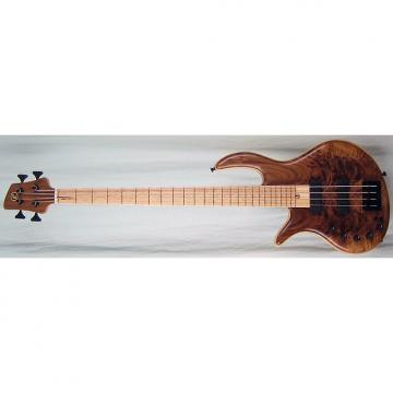 Custom Elrick Handcarved e-volution 4-String Bass Guitar, Gold Series, Birdseye Maple Fingerboard, Left-Han