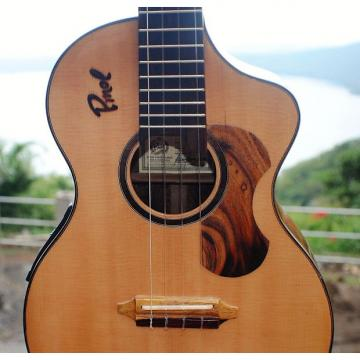 Custom Custom Handcrafted Solid Cocobolo Rosewood Electric Baritone Ukulele w/t Soundport & Cutaway