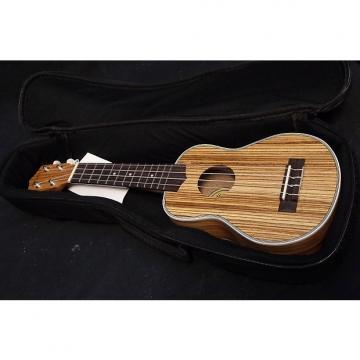 Custom Hilo 2954 Premier Series Zebrawood Soprano Uke Ukulele & Bag #0001