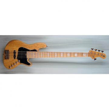 Custom Elrick Expat Handmade New Jazz Standard 5-String Bass Guitar, Clear Gloss Finish, Maple Fingerboard