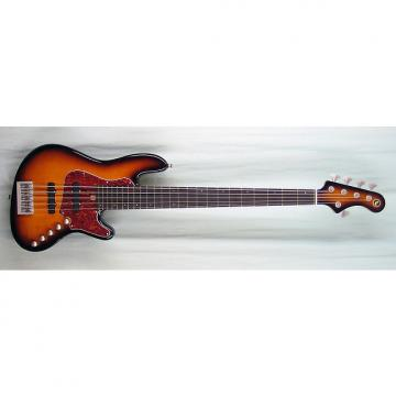 Custom Elrick Expat Handmade New Jazz Standard 5-String Bass Guitar, Antique Tobacco Sunburst Finish,