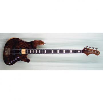Custom Elrick Expat Handmade New Jazz Standard 4-String Bass Guitar, Clear Gloss Finish/Burl Walnut Top
