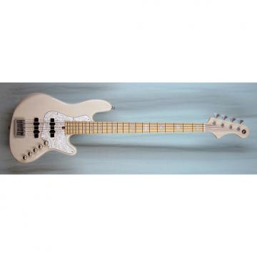 Custom Elrick Expat Handmade New Jazz Standard 4-String Bass Guitar, Transparent White Finish, Maple Fb
