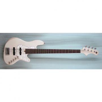 Custom Elrick Expat Handmade New Jazz Standard 4-String Bass Guitar, Transparent White Finish, Indian Rsw.