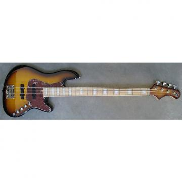 Custom Elrick Expat Handmade New Jazz Standard 4-String Bass Guitar, Tobacco Sunburst Finish, Maple Fb
