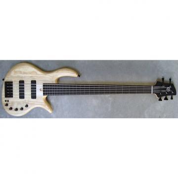 Custom Elrick Expat Handmade e-volution 5-String Bass Guitar, Natural Satin Finish, Gabon Ebony Fretless Fb