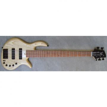 Custom Elrick Expat Handmade e-volution 5-String Bass Guitar, Natural Satin Finish, Bubinga Fingerboard