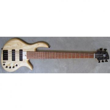 Custom Elrick Expat Handmade e-volution 5-String Bass Guitar, Natural Satin Finish, Bubinga Fingerboard