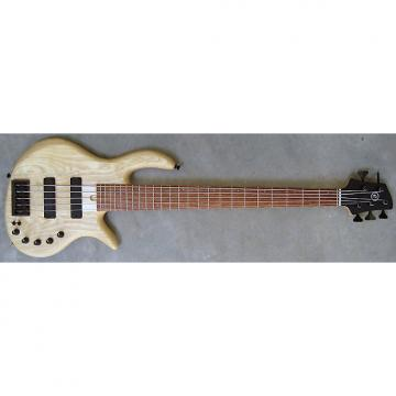 Custom Elrick Expat Handmade e-volution 5-String Bass Guitar, Natural Satin Finish, Bubinga Fingerboard,