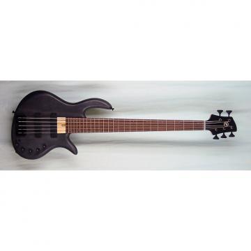 Custom Elrick Expat Handmade e-volution 5-String Bass Guitar, Black Satin Finish, Wenge Fingerboard
