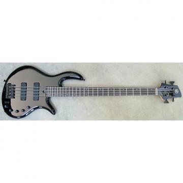 Custom Elrick Expat Handmade e-volution 4-String Bass Guitar, Gloss Black Laquer, Gabon Ebony Fingerboard