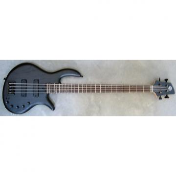 Custom Elrick Expat Handmade e-volution 4-String Bass Guitar, Satin Matte Black Finish, Wenge Fingerboard,