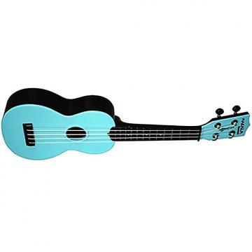 Custom Kala Makala MK-SWB Waterman Soprano Ukulele - Aqua Blue