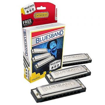 Custom Hohner Blues Band Harmonica Set of 3 (Keys C G A)