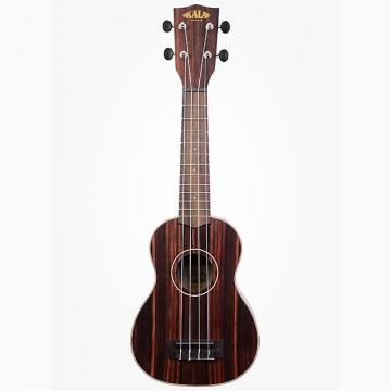 Custom Kala Ebony Soprano Ukulele Right-Hand Uke w/ Rosewood Fingerboard Aquila Strings