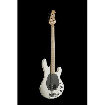 Custom Musicman Stingray 4 H, White, Maple fretboard