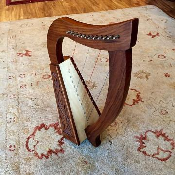 Custom Rosewood 12-string Celtic Baby Harp