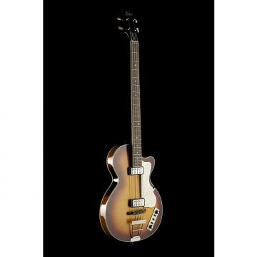 Custom Hofner Contemporary Club Bass Antique Brown Sunburst - Sunburst