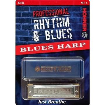 Custom Hohner 532BX-A Blues Harp Harmonica, Key Of A
