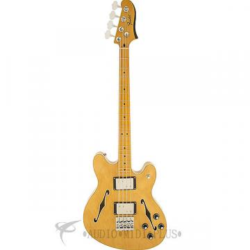 Custom Fender Starcaster Maple Fingerboard Electric Bass Natural - 0243302521 - 885978320400