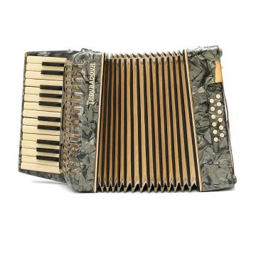 Custom Troubador 25/12 Accordion For Repair Gunmetal Pearl