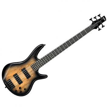 Custom Ibanez 5 String Electric Bass Guitar GSR205SM-NGT Natural Grey Burst NEW