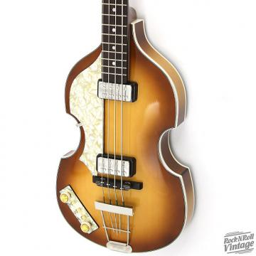 Custom Hofner 500/1 V62 Violin Bass Sunburst Factory B-Stock Lefty Handed